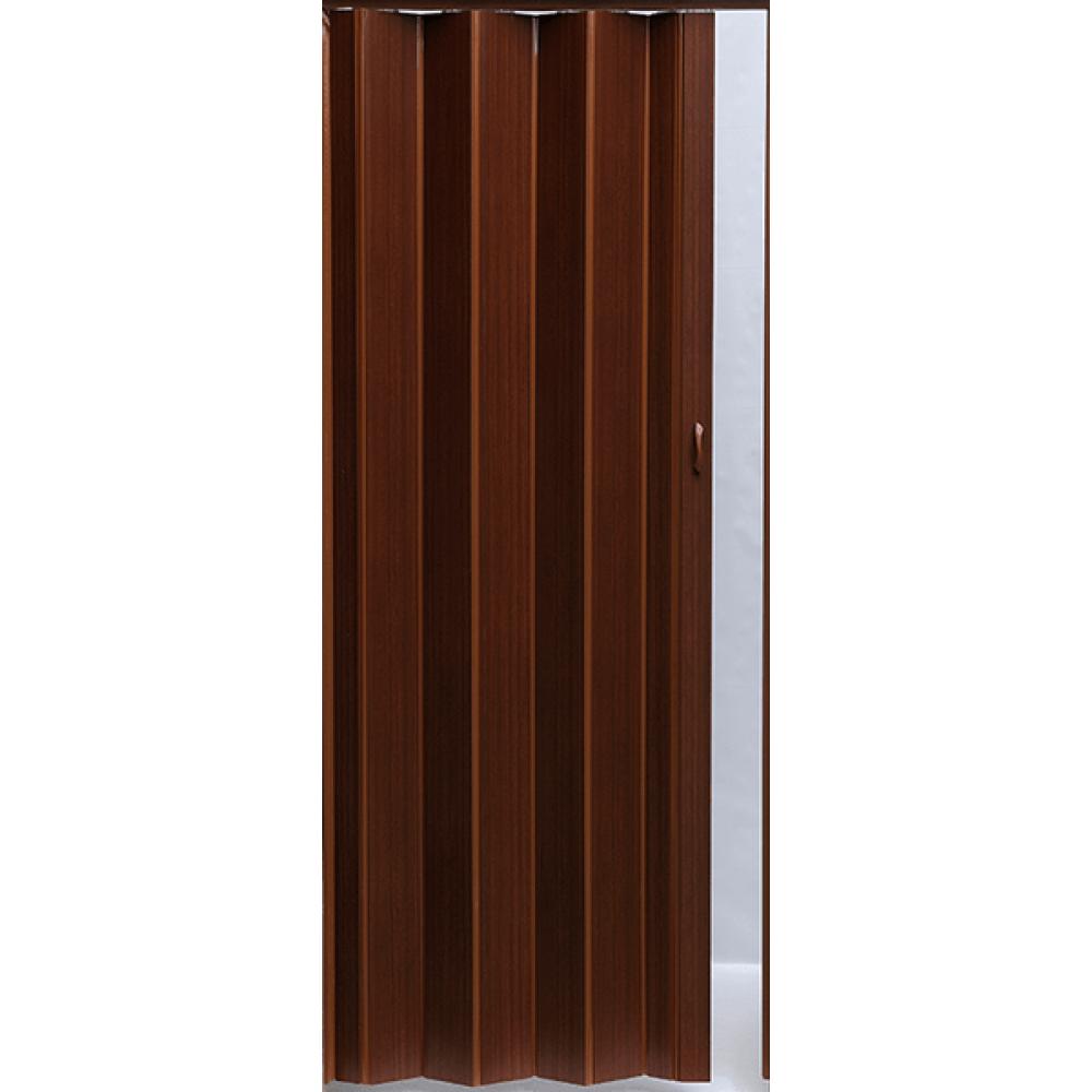 Дверь гармошка Pioneer Темный орех