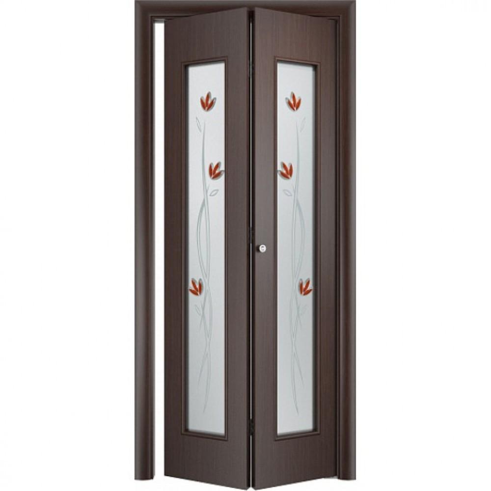 Складная дверь книга С17 тюльпан